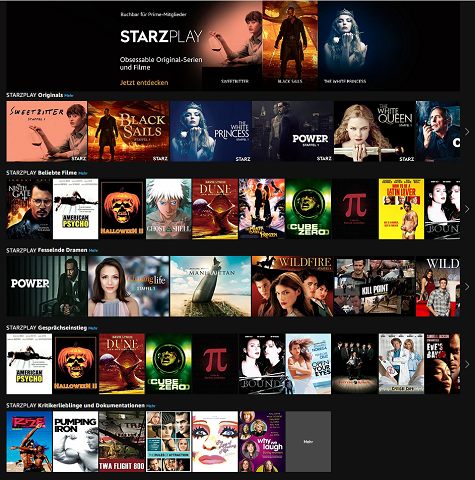 Neuer Prime Video Channel STARZPLAY