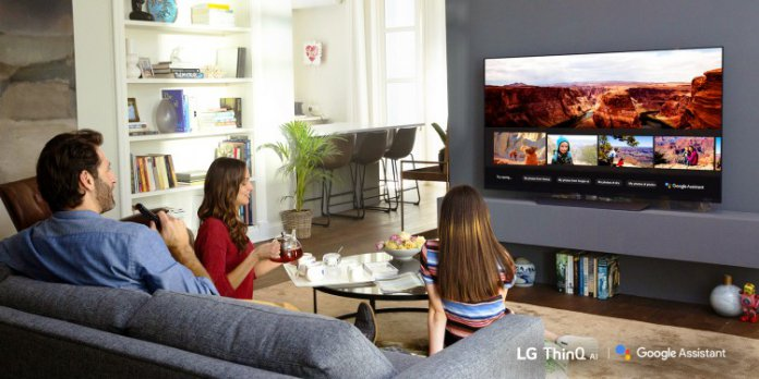 LG AI ThinQ TV, LG AI ThinQ TV Google Assistenten,