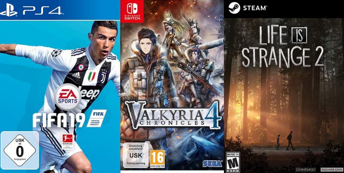 ©EA Sports ©SEGA ©DONTNOD Fifa 19 Valkyria Chronicles Life is Strange 2 Games Trailer Time