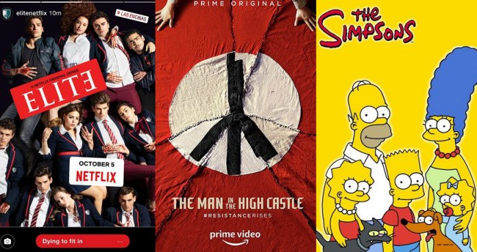 ©Netflix ©Fox Television Network ©Amazon Elite The Simpsons Man in the High Castle Serien Trailer Time