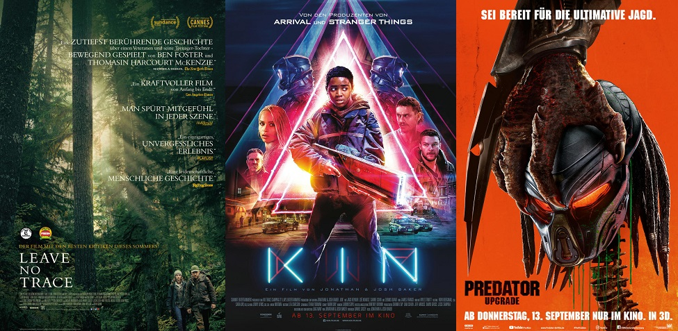 ©Sony Pictures ©Concorde ©20th Century Fox Leave No Trace Kin Predator Upgrade Kino Trailer Time