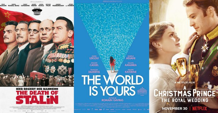 ©Concorde Filmverleih ©Iconoclast ©Netflix The Death of Stalin Die Welt gehört dir A Christmas Prince The Royal Wedding Film Trailer Time
