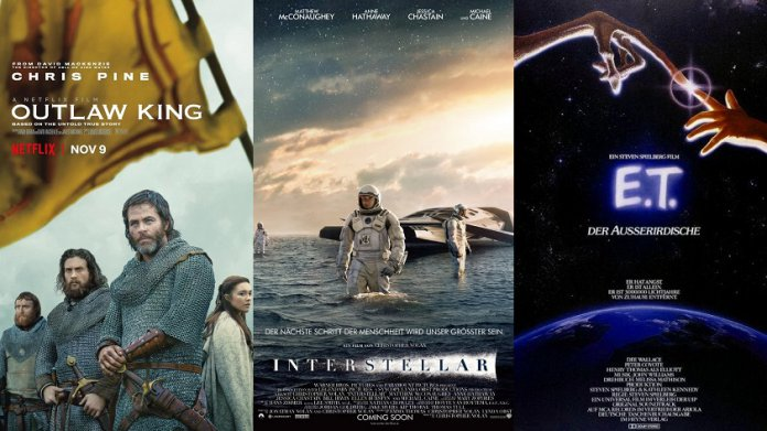 ©Netflix Outlaw King ©United International Pictures ET ©Warner Bros Interstellar Film Trailer Time