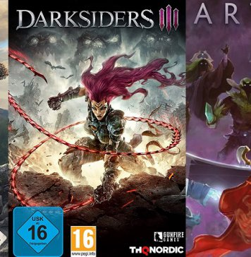 ©Studio Wildcard ©THQ Nordic ©Valve Ark Survival Evolved Darksiders 3 Artifact The Dota Card Game