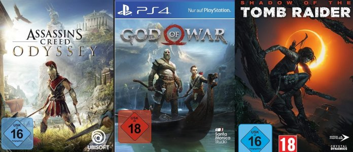 ©Ubisoft ©Santa Monica Studio ©Square Enix Assassins Creed Odyssey God of War Shadow of the Tomb Raider Gaming Highlights 2018 Games 2018