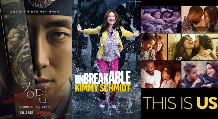 ©Netflix ©NBC Kingdom Unbreakable Kimmy Schmidt This is us Serien Trailer Time