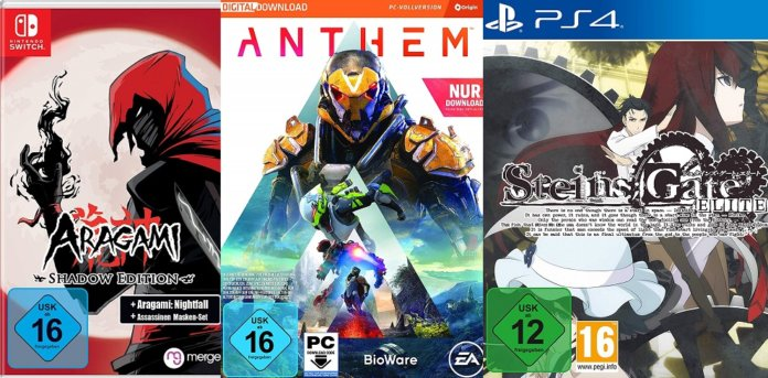 ©Merge ©EA ©Koch Media aragami shadow edition anthem steins gate elite games trailer time