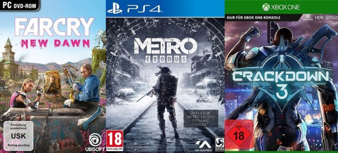 ©Ubisoft ©Deep Silver ©Microsoft Far cry new dawn metro exodus crackdown 3 games trailer time