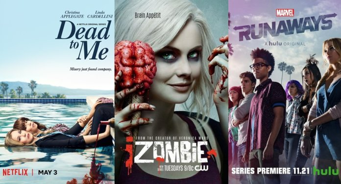 ©Netflix ©The CW ©Hulu Dead to me izombie marvel's runaways serien trailer time