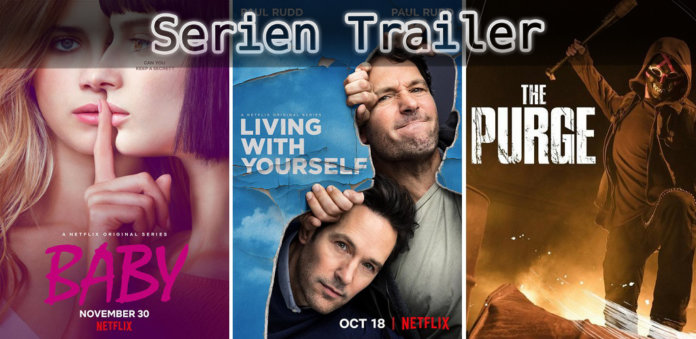 It's Serien Trailer Time: The Purge, Baby & Living With Yourself