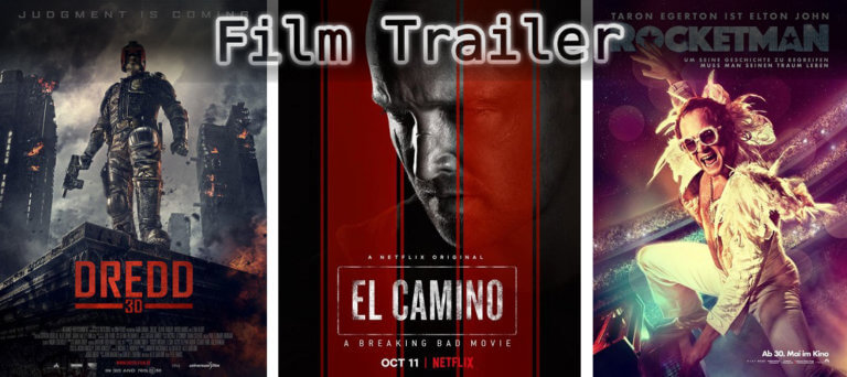 It's Film Trailer Time: El Camino, Dredd & Rocketman