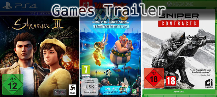 It's Games Trailer Time: Shenmue, Asterix & Sniper Contracts