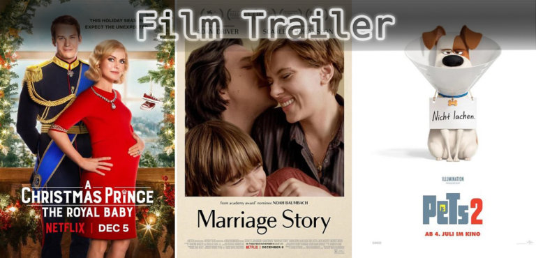 It's Film Trailer Time: Christmas Prince, Marriage Story & Pets