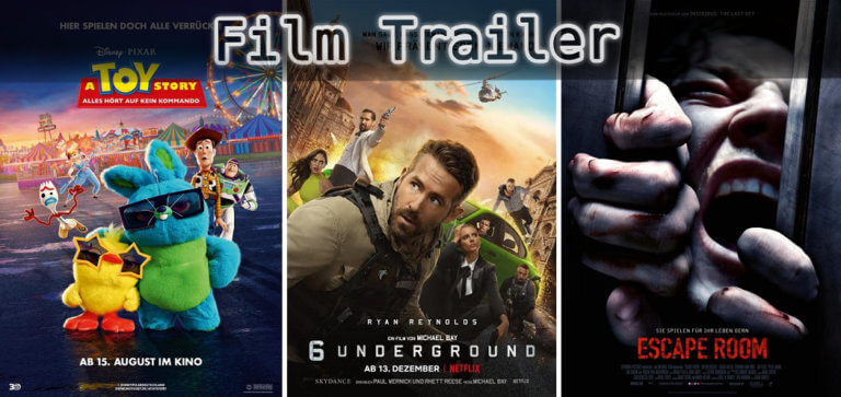 It's Film Trailer Time: Toy Story, 6 Underground & Escape Room