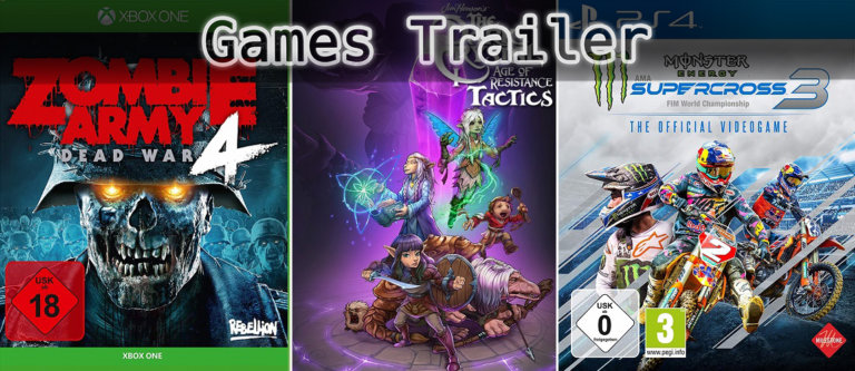 It's Games Trailer Time: Zombie Army, Dark Crystal & Supercross