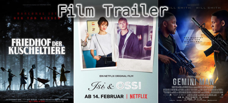 It's Film Trailer Time: Kuscheltiere, Isi & Ossi & Gemini Man