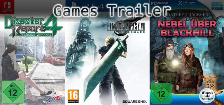 It's Games Trailer Time: Disaster Report, Final Fantasy & Mystery Trackers