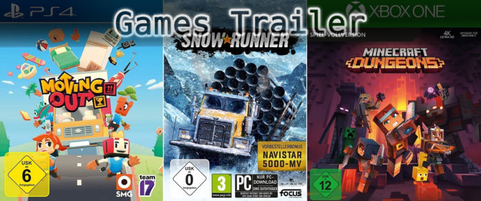 It's Games Trailer Time: Moving Out, Snowrunner & Minecraft