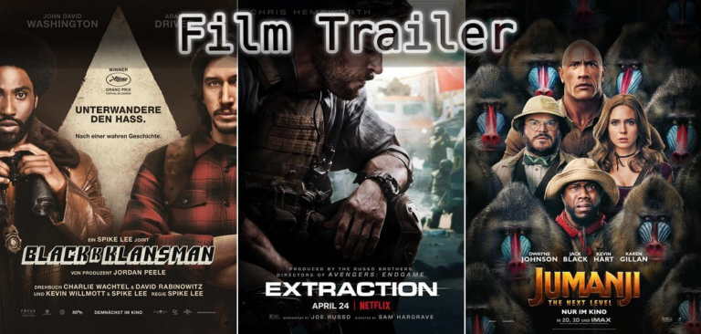 It's Film Trailer Time: BlackKklansman, Extraction & Jumanji