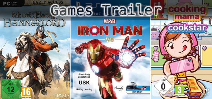 It's Games Trailer Time: Bannerlord, Iron Man & Cooking Mama