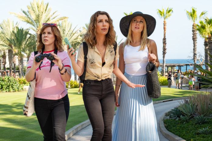 DESPERADOS, 2020 Sarah Burns als Kaylie, Nasim Pedrad als Wesley and Anna Camp als Brooke in DESPERADOS.