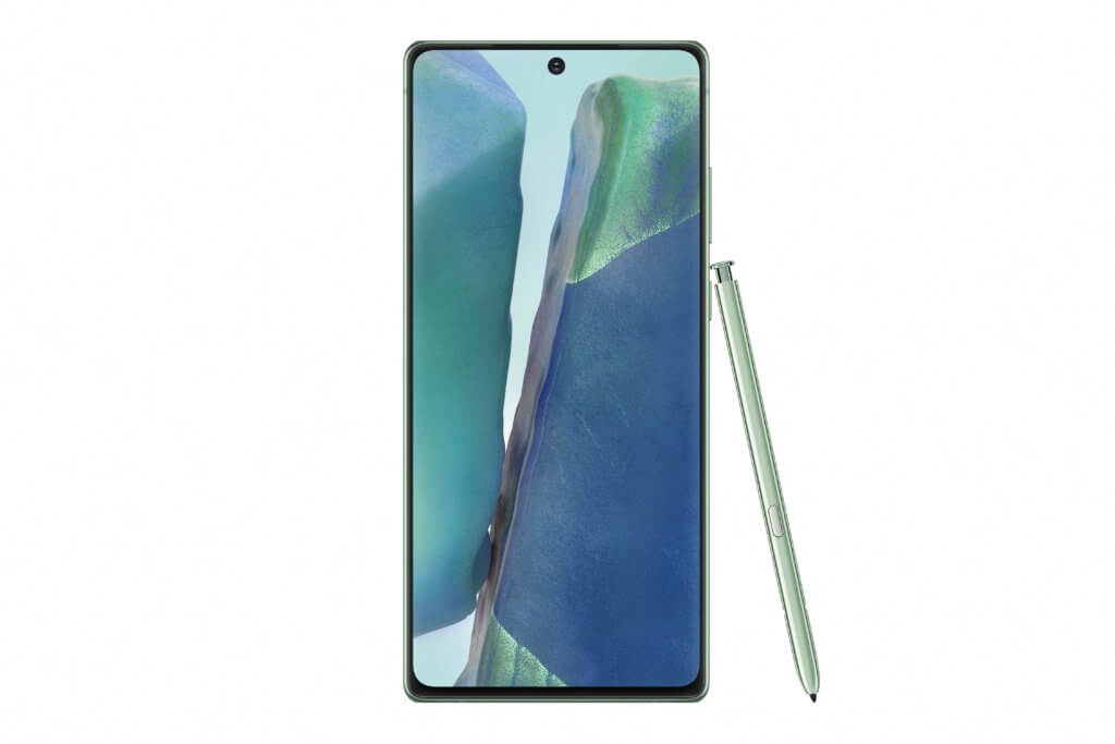Galaxy Note20 Front Mystic Green